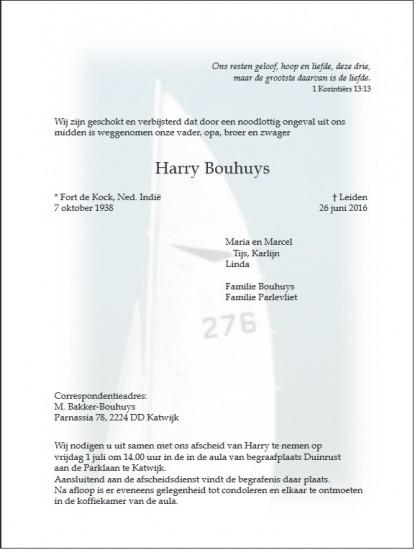 2016-06-26 Rouwkaart Harry Bouhuys